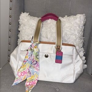 Coach Purse with Scarf